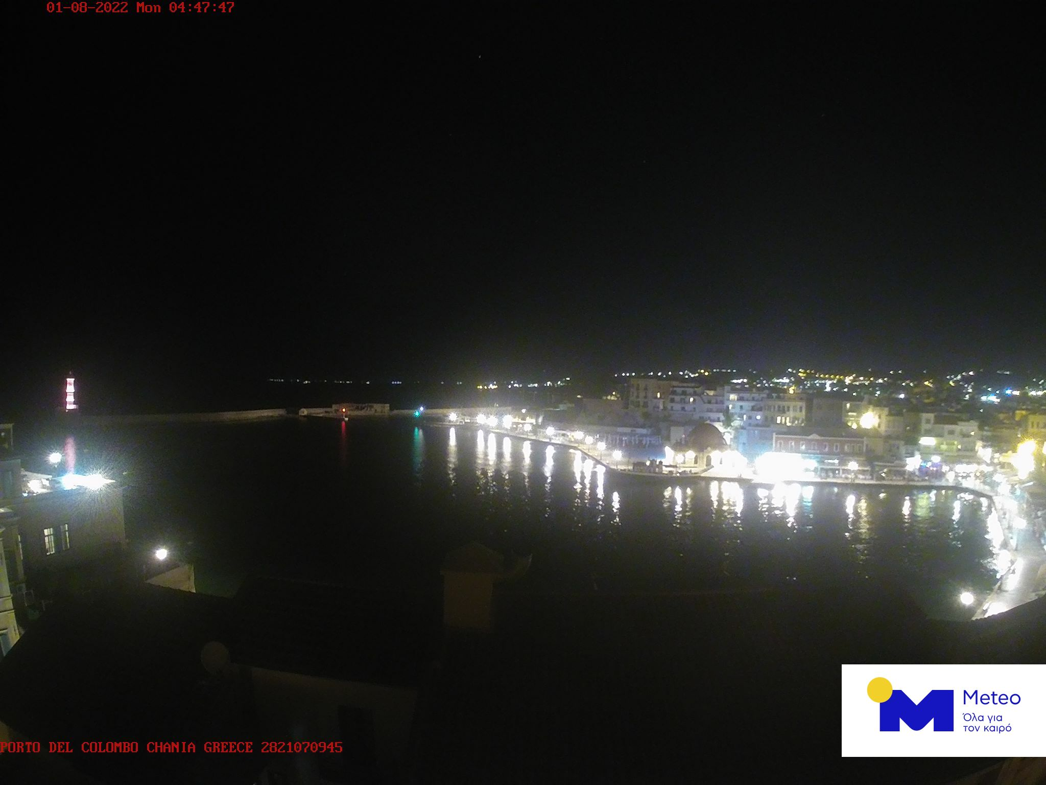 Chania webcam - HOTEL PORTO DEL COLOMBO webcam, Crete, Crete